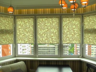 Римские шторы для нестандартных окон фото