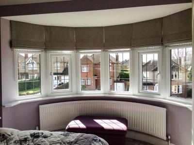 Римские шторы на эркерные окна фото